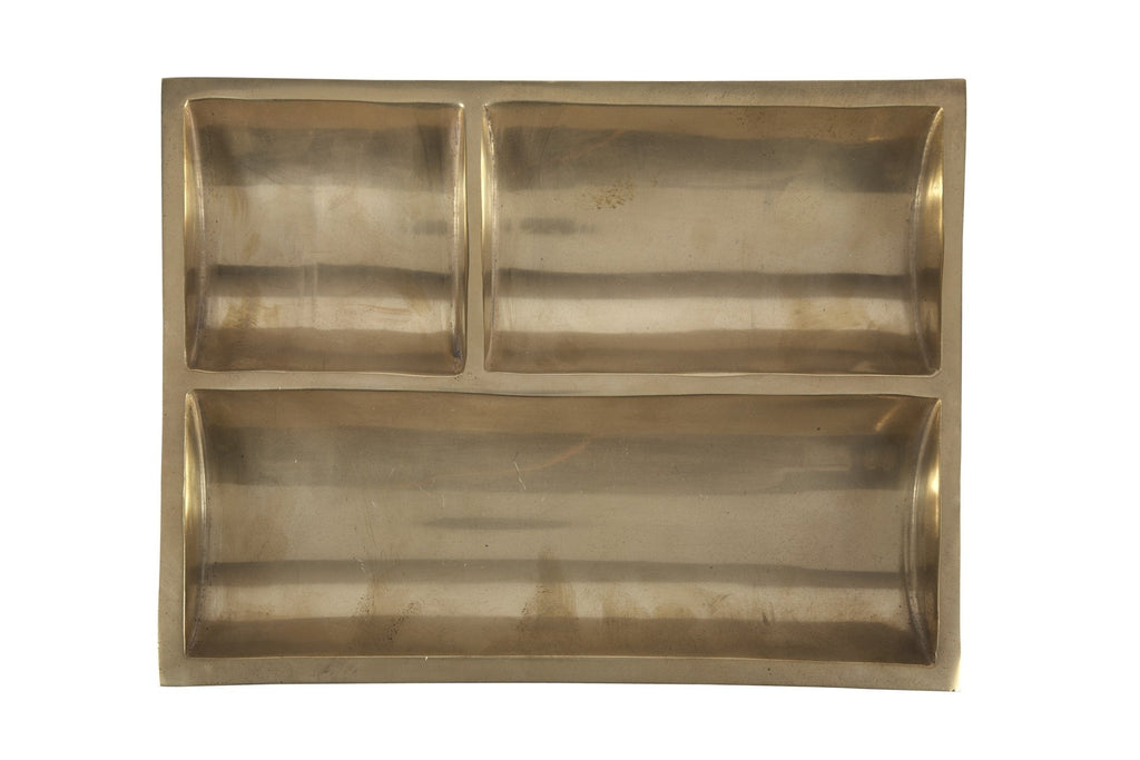 Brass Plate Modernist Catchall