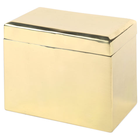 Beveled Keepsake Box in Solid Brass design by Sir/Madam