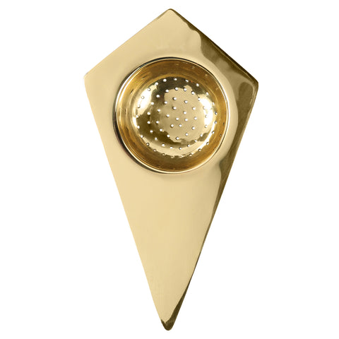 Belgrano Tea Strainer in Solid Brass design by Sir/Madam