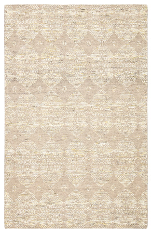Dentelle Hand-Knotted Geometric Beige & Gold Area Rug design by Jaipur Living