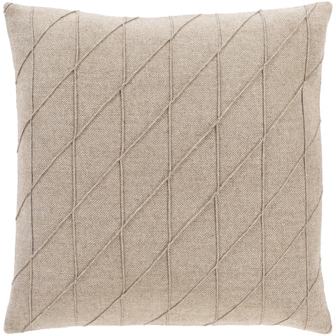 Brenley BRN-004 Woven Pillow in Beige by Surya