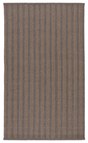 Madaket Handmade Indoor/Outdoor Stripes Rug in Taupe & Gray