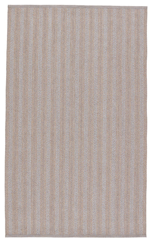 Topsail Indoor/Outdoor Striped Grey & Taupe Rug by Jaipur Living