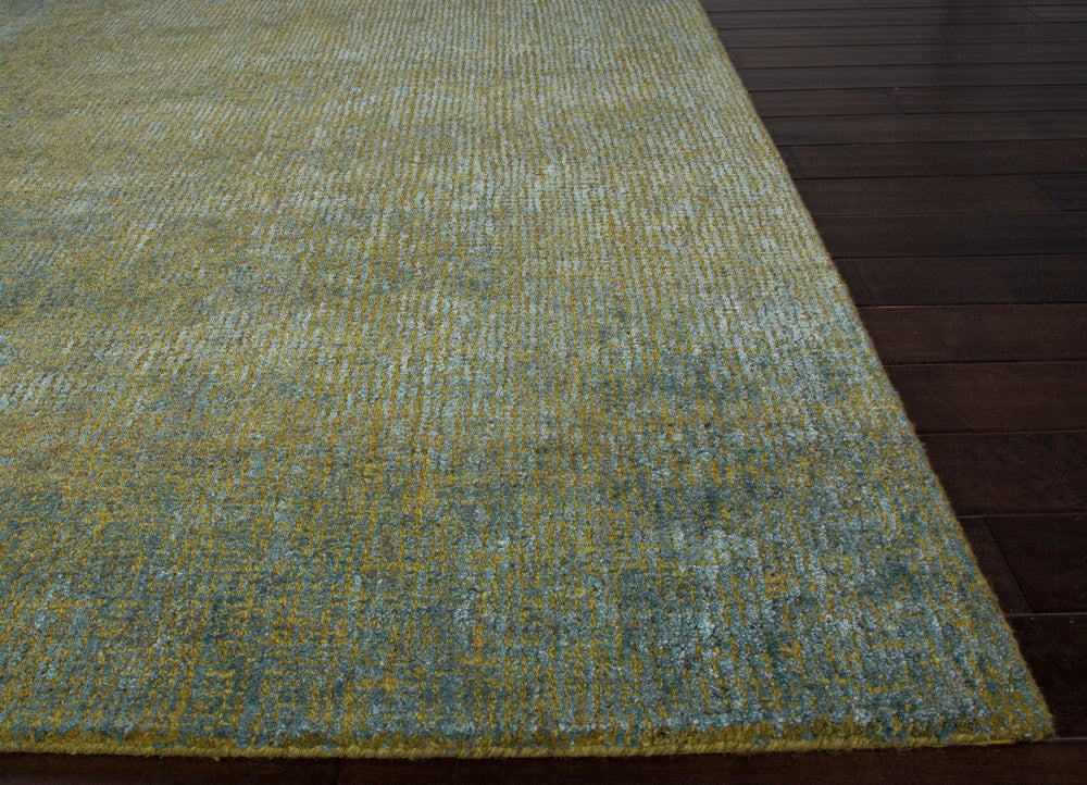 Britta Plus Handmade Solid Blue & Green Area Rug