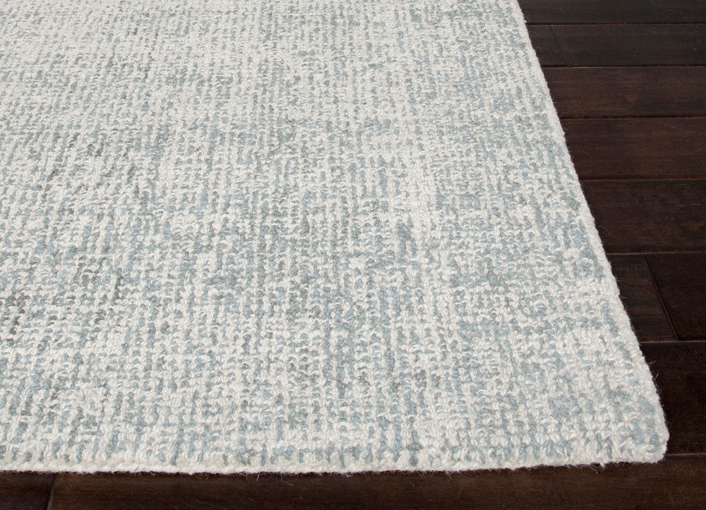Oland Handmade Solid White & Light Blue Area Rug
