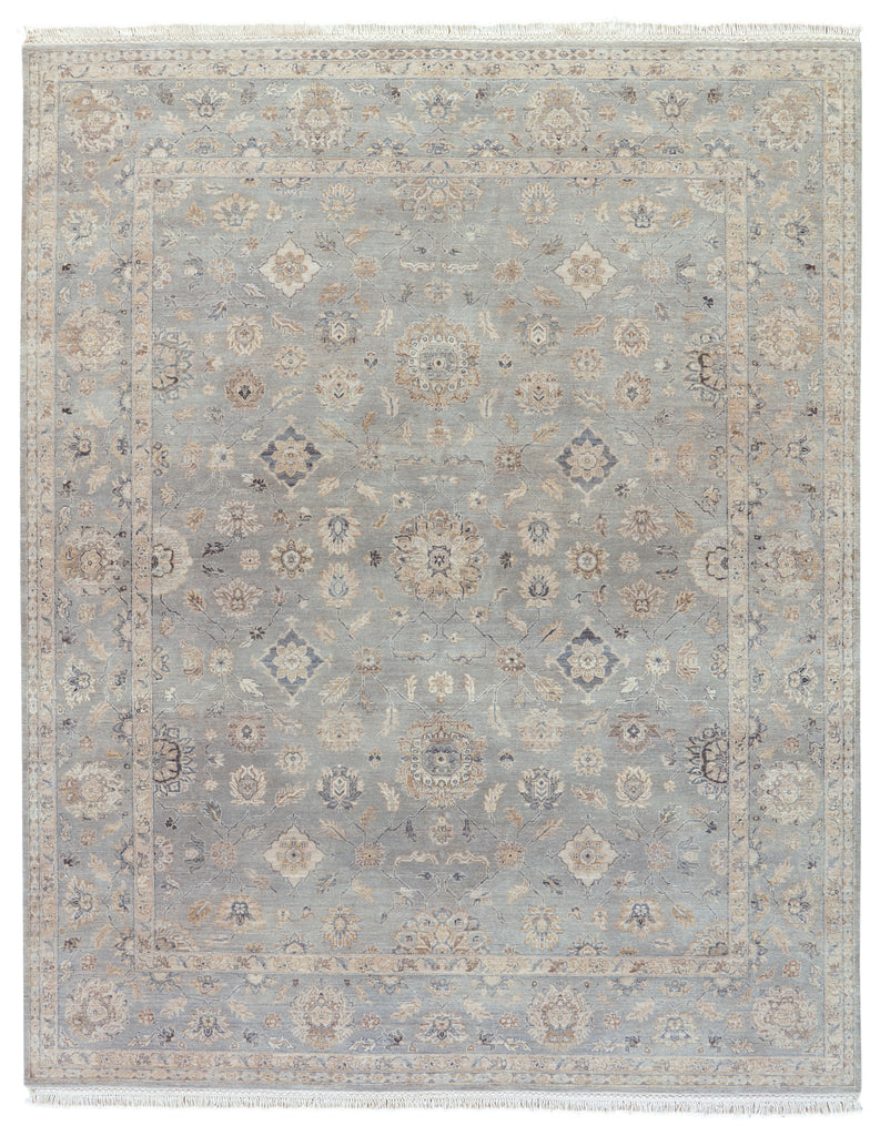 Riverton Hand-Knotted Medallion Gray & Tan Area Rug