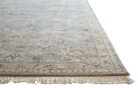 Riverton Medallion Rug in Moon Rock & Oyster Gray design by Jaipur