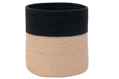 Basket Dual in Black & Linen