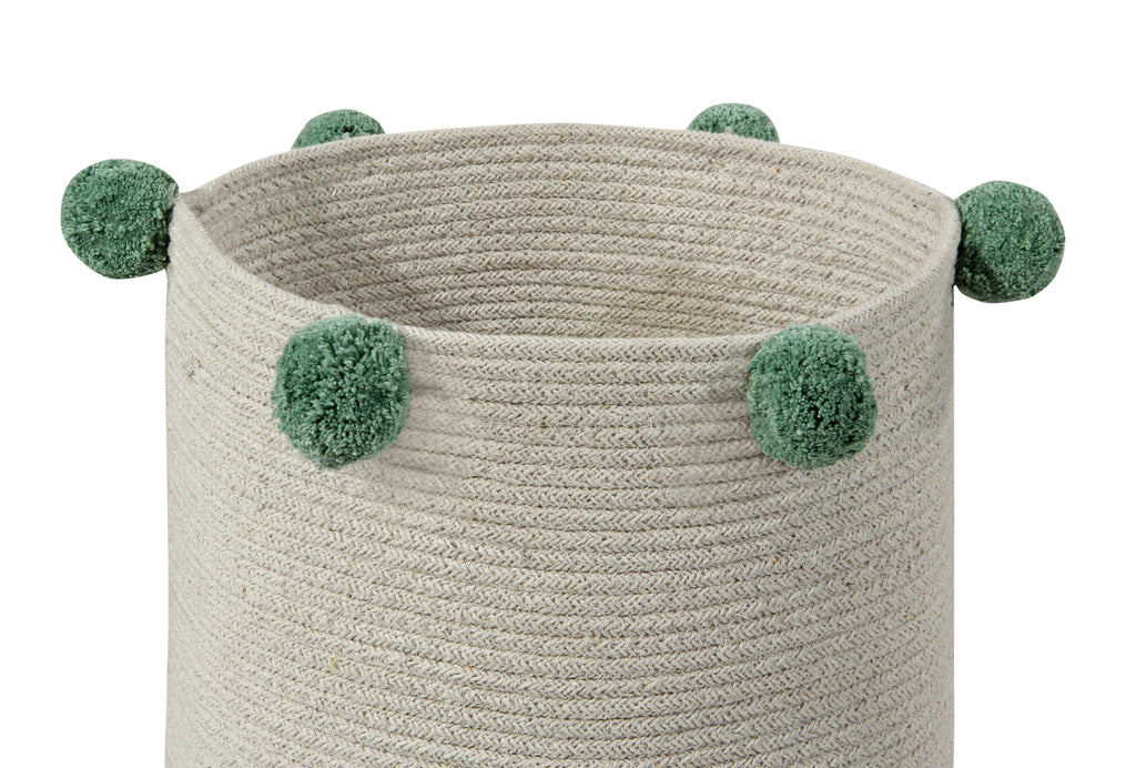 Bubbly Basket in Natural & Green design by Lorena Canals