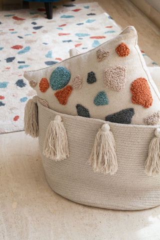 Tassels Basket in Natural design by Lorena Canals