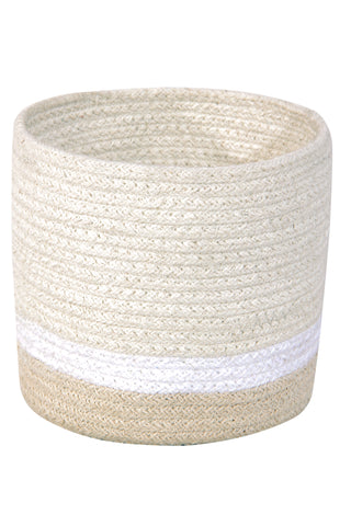 Mini Tricolor Basket in Ivory design by Lorena Canals