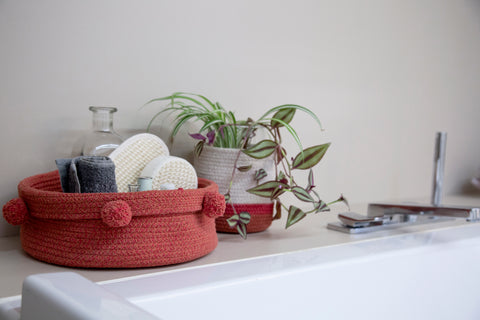Mini Tricolor Basket in Natural design by Lorena Canals
