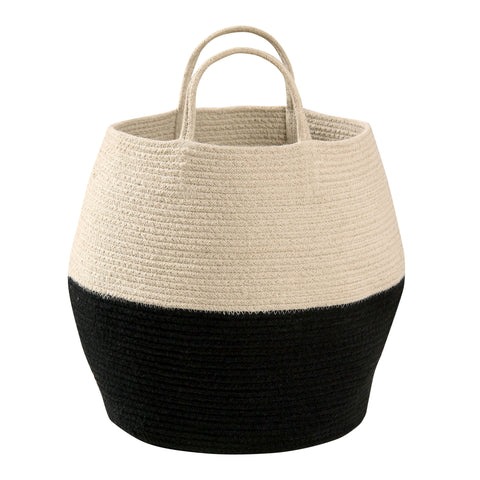 Zoco Basket in Black & Natural design by Lorena Canals