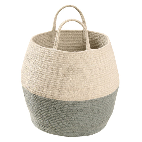 Zoco Basket in Vintage Blue & Natural design by Lorena Canals