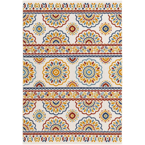 Big Sur BSR-2307 Indoor/Outdoor Rug in Burnt Orange & Cream by Surya