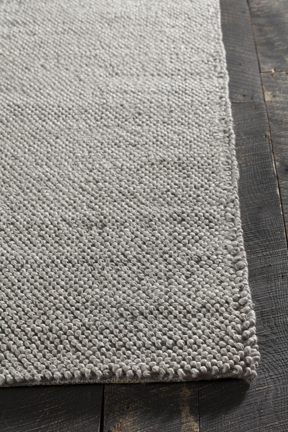 Burton Collection Hand Woven Area Rug In Grey Design By
