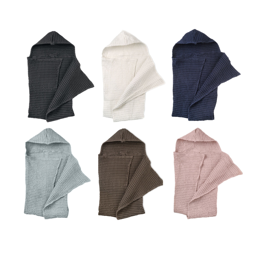 Big Waffle Baby Towel in multiple colors by The Organic Company