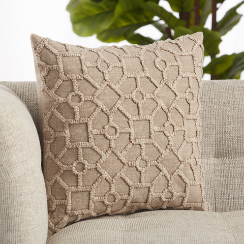 Espanola Trellis Pillow in Gray