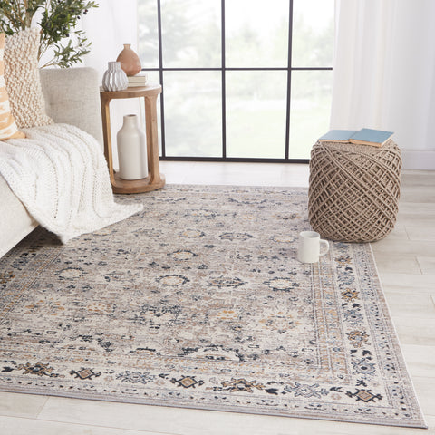 Herena Oriental Grey & Dark Blue Rug by Jaipur Living