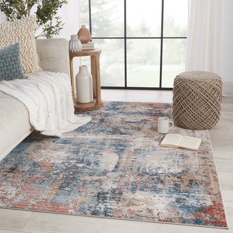 Casiane Abstract Red & Blue Rug by Jaipur Living