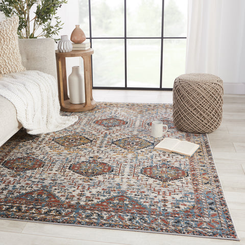 Gordiana Medallion Multicolor & White Rug by Jaipur Living