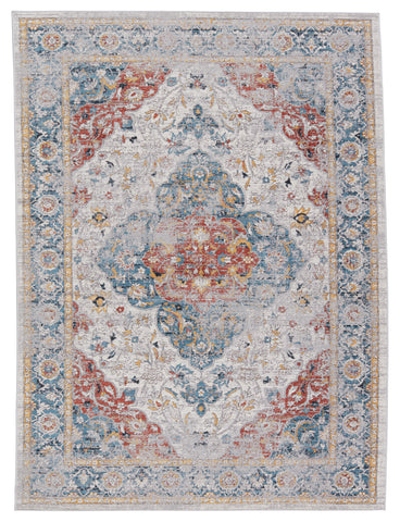 Syagria Medallion Blue & Red Rug by Jaipur Living