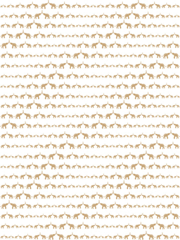 Baby Elephant Walk Wallpaper in Gold Metallic by Marley + Malek Kids