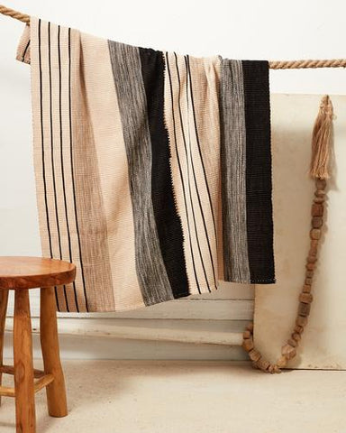 Baby Pantelho Blanket in Black & Beige by Minna