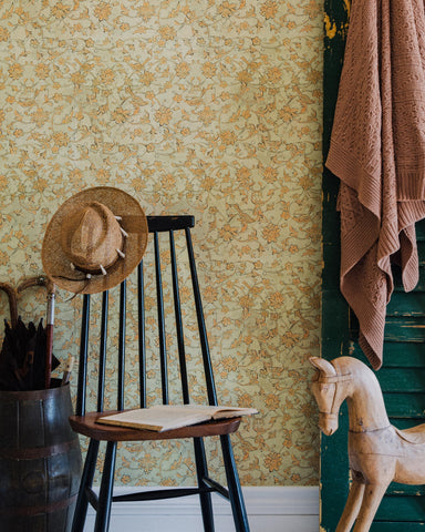 Backyard Flowering Wallpaper in Seacrest from the Complementary Collection by Mind the Gap