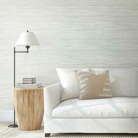 Bahiagrass Wallpaper in Fog from the Water's Edge Collection by York Wallcoverings