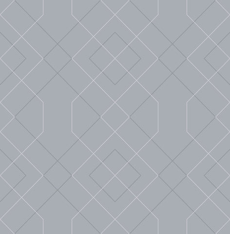 Ballard Geometric Wallpaper in Pewter from the Scott Living Collection by Brewster Home Fashions