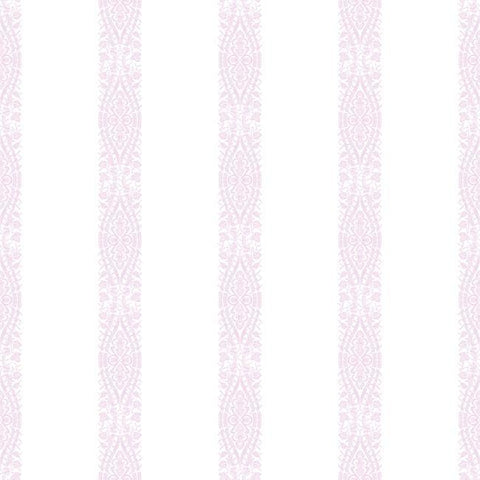 Sample Ballerina Stripe Wallpaper in Orchid from the A Perfect World Collection by York Wallcoverings