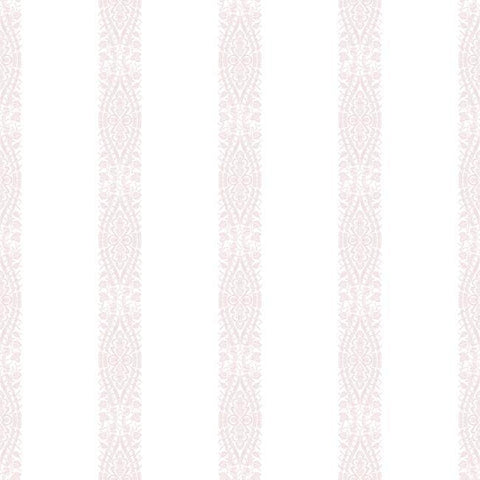 Sample Ballerina Stripe Wallpaper in Pink from the A Perfect World Collection by York Wallcoverings