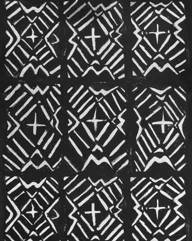 Bamana Wallpaper in Black and White from the Wallpaper Compendium Collection by Mind the Gap