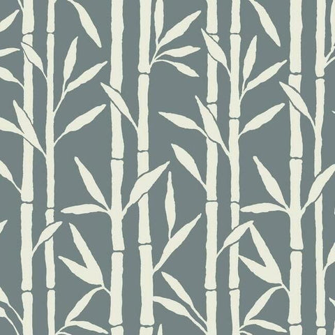 Bamboo Grove Wallpaper in Blue by Antonina Vella for York Wallcoverings