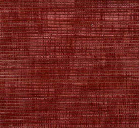 Bamboo Wallpaper in Red from the Winds of the Asian Pacific Collection by Burke Decor