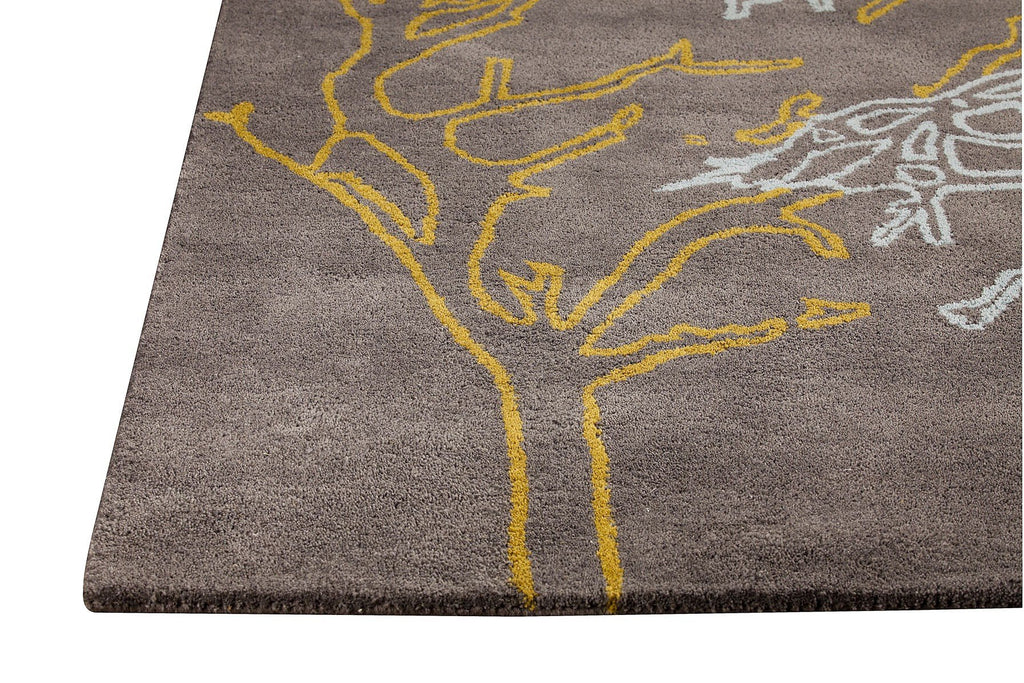 Bandon Collection Hand Tufted Wool and Viscose Area Rug in Grey design by Mat the Basics