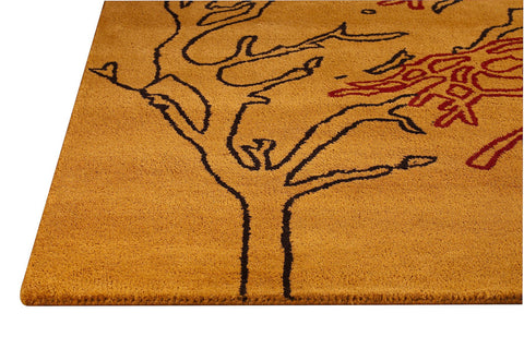 Bandon Collection Hand Tufted Wool and Viscose Area Rug in Orange design by Mat the Basics