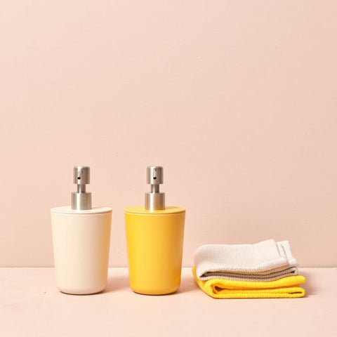 Bano Refillable Bamboo Liquid Soap Dispenser in Various Colors design by EKOBO