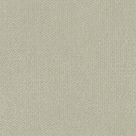 Sample Bantam Tile Wallpaper in Beige from the Tea Garden Collection by Ronald Redding for York Wallcoverings