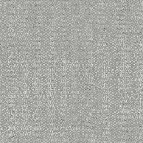 Sample Bantam Tile Wallpaper in Medium Grey from the Tea Garden Collection by Ronald Redding for York Wallcoverings