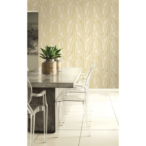 Barbados Wallpaper in Silver and Grey from the Tortuga Collection by Seabrook Wallcoverings