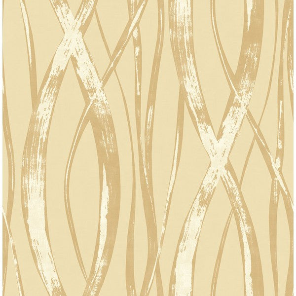 Sample Barbados Wallpaper in Gold and Beige from the Tortuga Collection by Seabrook Wallcoverings