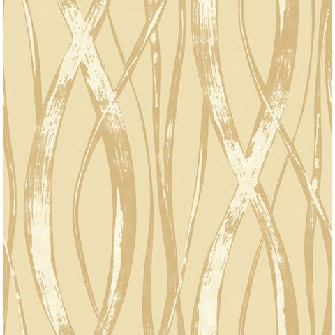 Barbados Wallpaper in Gold and Beige from the Tortuga Collection by Seabrook Wallcoverings