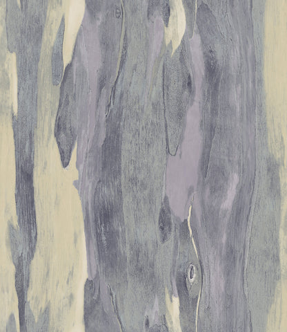 Bark Wallpaper in Purple and Neutrals from the Aerial Collection by Mayflower Wallpaper