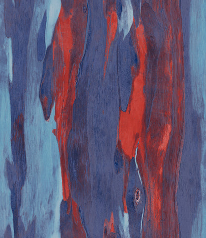 Bark Wallpaper in Red and Blue from the Aerial Collection by Mayflower Wallpaper