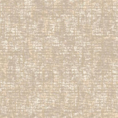 Barkcloth Wallpaper in Dark Metallic and Beige by Antonina Vella for York Wallcoverings