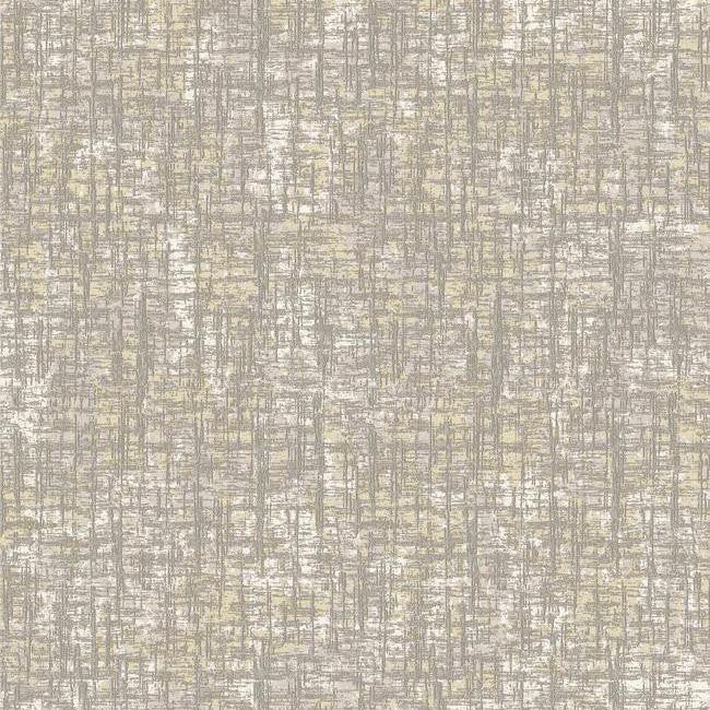Barkcloth Wallpaper in Dark Metallic and Neutrals by Antonina Vella for York Wallcoverings