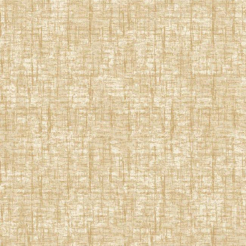 Sample Barkcloth Wallpaper in Gold and Neutrals by Antonina Vella for York Wallcoverings