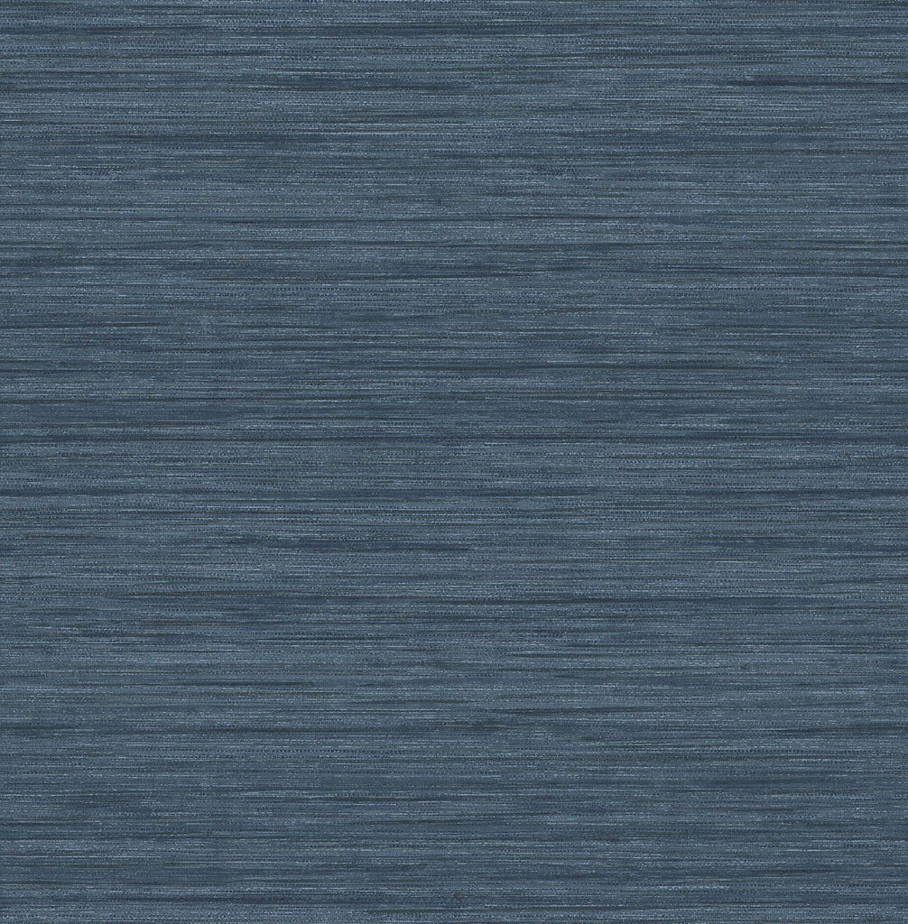 Sample Barnaby Faux Grasscloth Wallpaper in Indigo from the Scott Living Collection by Brewster Home Fashions